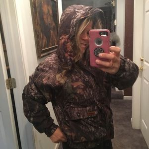 Woolrich Mossy Oak Camouflage hunting hooded coat